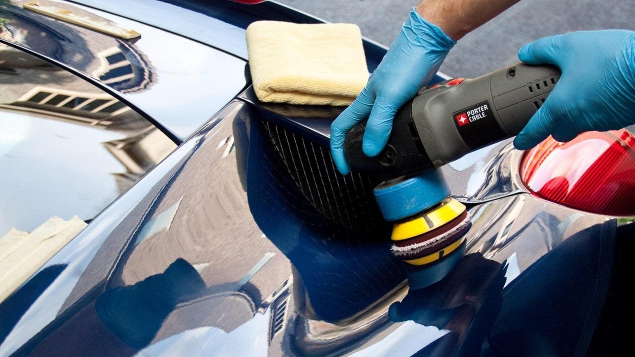 Авто во время полировки фото