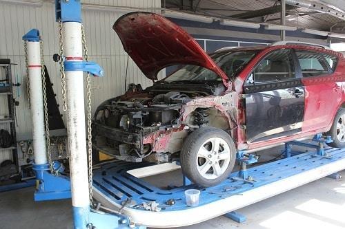 Фото кузовного ремонта с использованием стапеля
