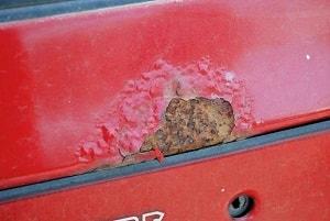 Фото ржавчины на кузове авто