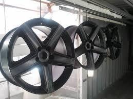 Фото процесса окрашивания дисков