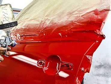 Пример окрашивания двери автомобиля