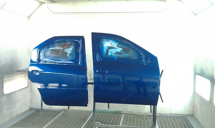 Фото дверей авто после покраски